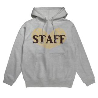 Staff(オレンジ) Hoodies