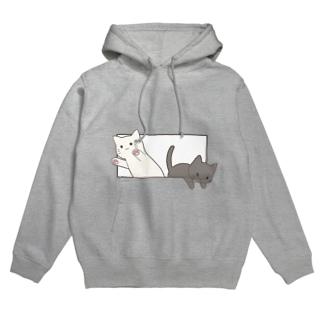 とびだす猫 Hoodies