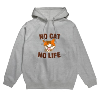 NO CAT NO LIFE Hoodies