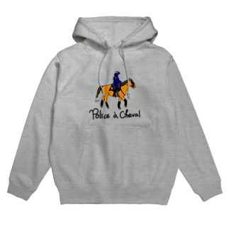 Police a Cheval Hoodies