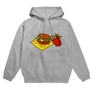 ネコックさんのハンバーガー Hoodies
