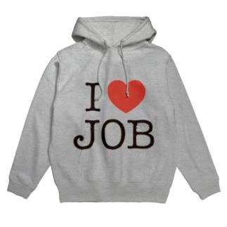 I LOVE JOB Hoodies