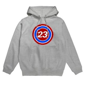 23Whisper_round Hoodies