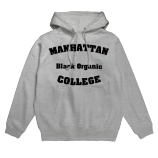 MANHATTAN Black Organic COLLEGE Hoodies