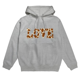 GIRAFFE LOVE Hoodies