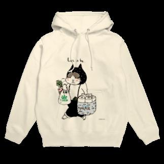 ほっかむねこ屋@ 11/10 11 デザインフェスタ@東京ビッグサイト J68のお買い物ねこのTシャツ フーディ