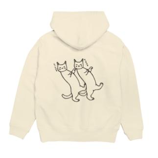 踊る猫たち Hoodies