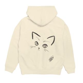 にゃあん(猫目) Hoodies