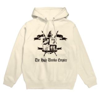 神聖ウンンコ帝国 かすれた文字がいい感じTシャツ Hoodie