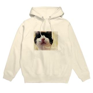 I love cats ③ Hoodies