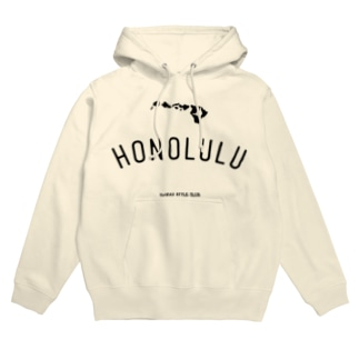 HONOLULU BLK LOGO Hoodies