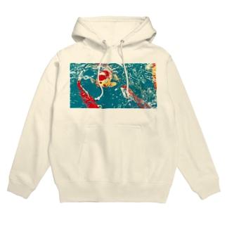 鯉 Hoodies