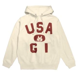 USA 赤 Hoodies