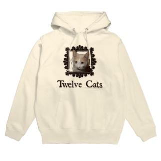 カフェラテ色の猫 Hoodies