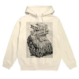 EX-libris  犬の蔵書票 Hoodies