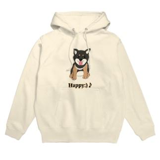 うるうる黒柴犬ちゃん 英語ロゴ Hoodies