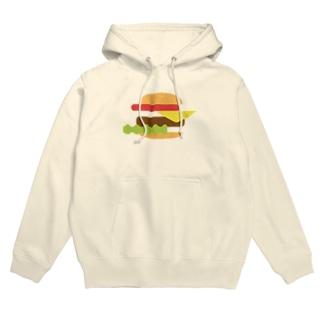 ハンバーガー 単品 Hoodies