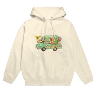KU-MA アイスクリーム号 Hoodies