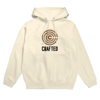 CRAFTED 黒ロゴ Hoodies