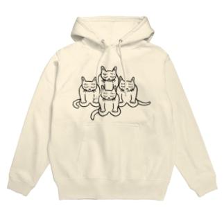 猫のもくとう Hoodies