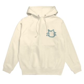 NO CATS NO LIFE(両面)(blue) Hoodies