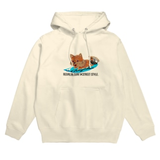 REGALIA dog surf Hoodies