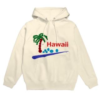 アメリカンベースのハワイ あわあわ Hoodies