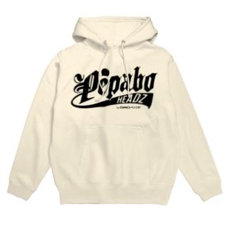 PEPABO HEADZ Black Logo Hoodies