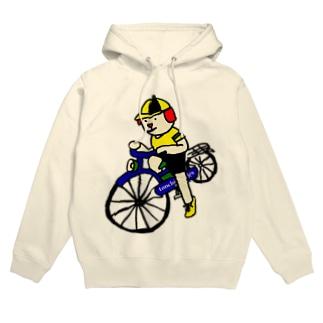 ウクちゃんと自転車 Hoodies