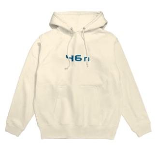 46n(青ロゴ) Hoodies