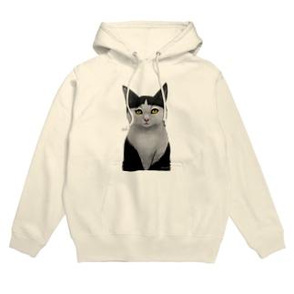 ぱっつん猫 Hoodies