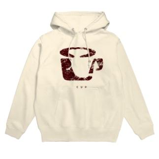 CUP(かすれ・茶) Hoodies