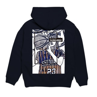 SLOW in the DEEPのSHIMANE Basketball CLUB Hoodies