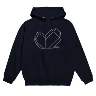 水晶-日本式双晶(白) Hoodies