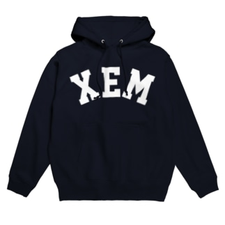 XEM(白) Hoodies