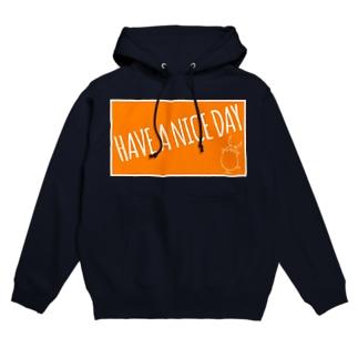 PIGGIE-PIGGY / HAVE A NICE DAY (orange) Hoodies