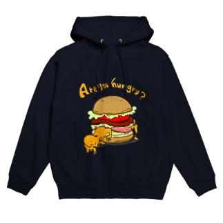 ハンバーガー食べる? Hoodies