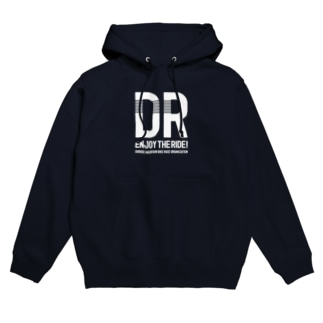 DR白ロゴ_パーカー Hoodie