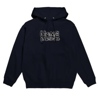 HOME ロゴc Hoodies