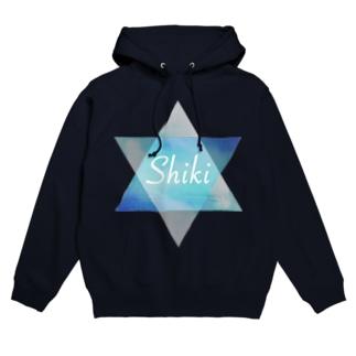 Shiki Six ロゴ フーディ