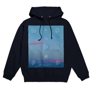 A lot of hearts Hoodies