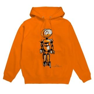 ロボット5 Hoodies
