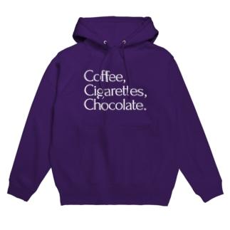 Coffee,Cigarettes,Chocolate. Hoodies