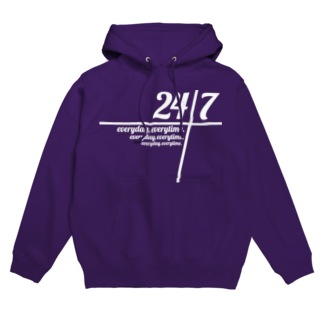 mawwwww.com | design projectの24/7 -twenty-four seven- Hoodies