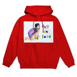 fall   in  loveえつこさん Hoodies