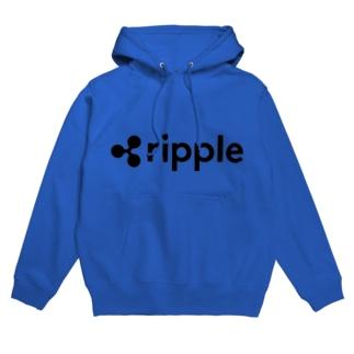 ripple リップル 黒字 横 各色 フーディ