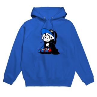 ぷかぷかブルー Hoodies
