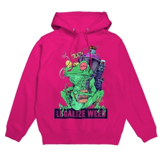 LEGALIZE IT FROG (SH11NA WORKS) Hoodies
