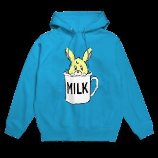 HAPPY MILK MARKETのカップに入ったウサギちゃんフーディ