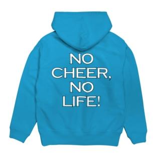NO CHEER,NO LIFE!背面ロゴ Hoodies